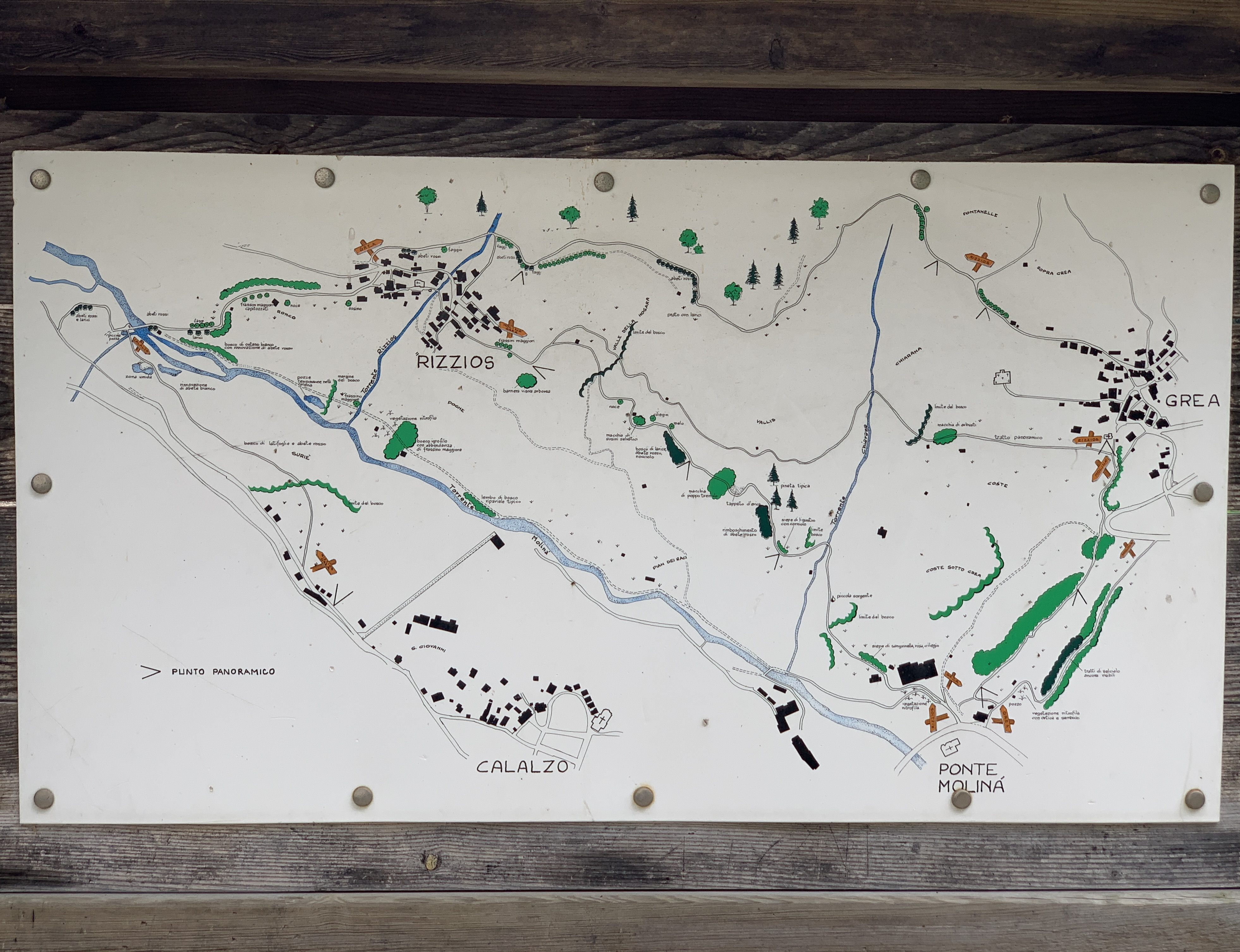 Mappa della Traversata del Cadore
